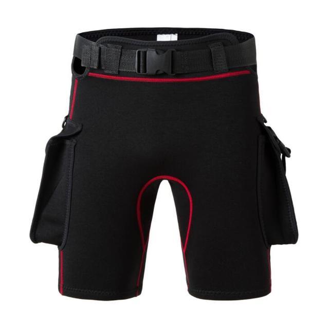 3mm New Technical Diving shorts sun belt bag weight adjustable elastic neoprene pants shorts deep diving