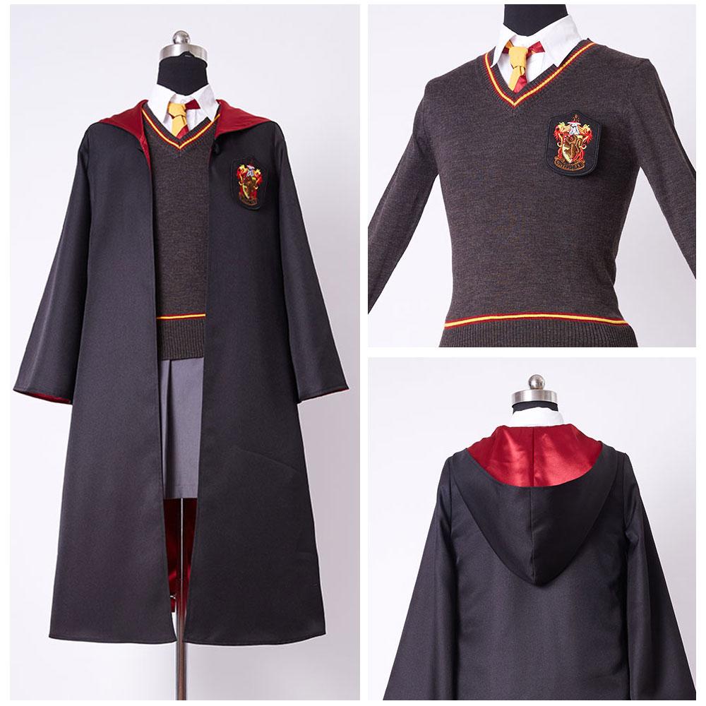 Enfants Gryffondor Robe Uniforme Hermione Granger Cosplay Costume Enfant Version
