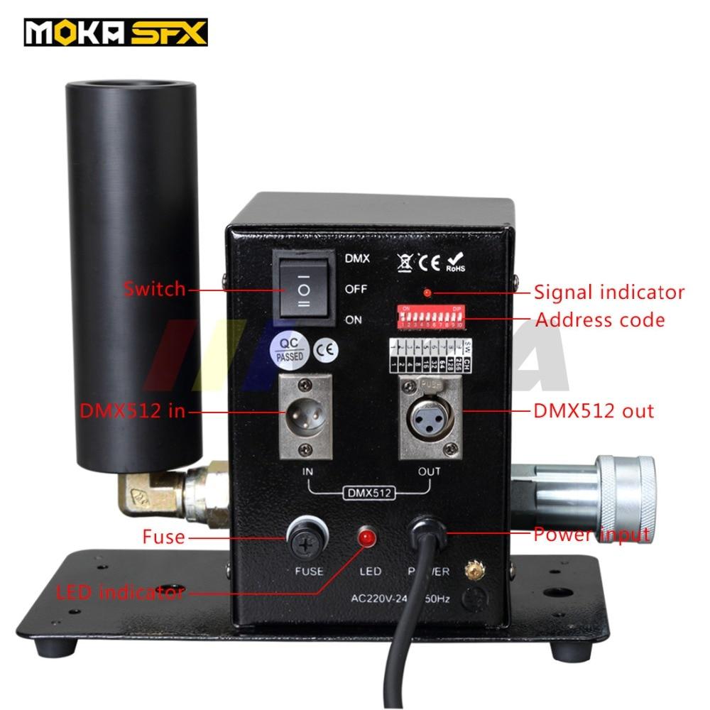 CO2 Jet Machine DMX 512 Co2 Jet Cannon Spray 8-10m DJ Stage Effect
