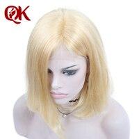 QueenKing cheveux 250% Densité U partie Perruque Blonde Bob 613 Soyeux Droite Expédition Durant La Nuit gratuitement 100% Humains Brésiliens Remy Cheveux