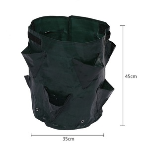 Image 1 - Potato Strawberry Planter Bags for Growing Potatoes Outdoor Garden Hanging Open Style Vegetable Planting Grow Bag Compost New