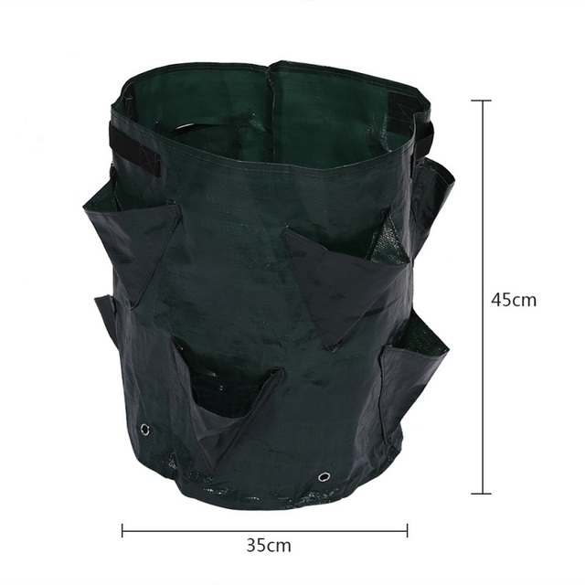 Potato Strawberry Planter Bags for Growing Potatoes Outdoor Garden Hanging Open Style Vegetable Planting Grow Bag Compost New