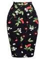 Grace Karin Cotton Polka Dot Floral Pencil 50s vintage skirt 2016 Women Pleated Midi Skater Skirts Circle Saia Femininas office