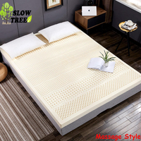 Slow Tree Mattress Negative Ion Natural Latex 1.8m Queen Bed Mat Tatami Thicken Livingrooom Carpet Foldable Bedroom TwinMattress