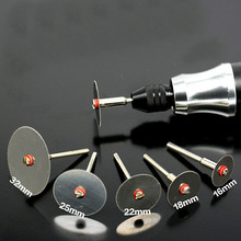 5 adet/takım paslanmaz çelik dilim Metal kesme diski 1 Mandrel Dremel döner araçları için 16 18 22 25 32mm kesme diski