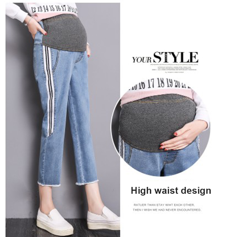 Elastic Waist Pregnant Women Jeans Clothes Mummy Denim Overall Pants Trousers Loose Maternity Belly Jeans For Pregnant Women Elastic Waist Pregnant Women Jeans Clothes Mummy Denim Overall Pants Trousers Loose Maternity Belly Jeans For Pregnant Women