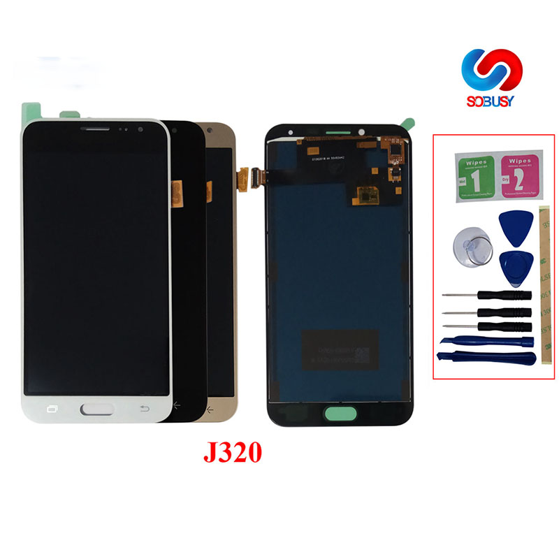 For <font><b>Samsung</b></font> Galaxy J3 2016 J320 <font><b>LCD</b></font> Display J320F J320M <font><b>J320FN</b></font> J320A Touch Screen Pantalla Digitizer Assembly Replace Part image