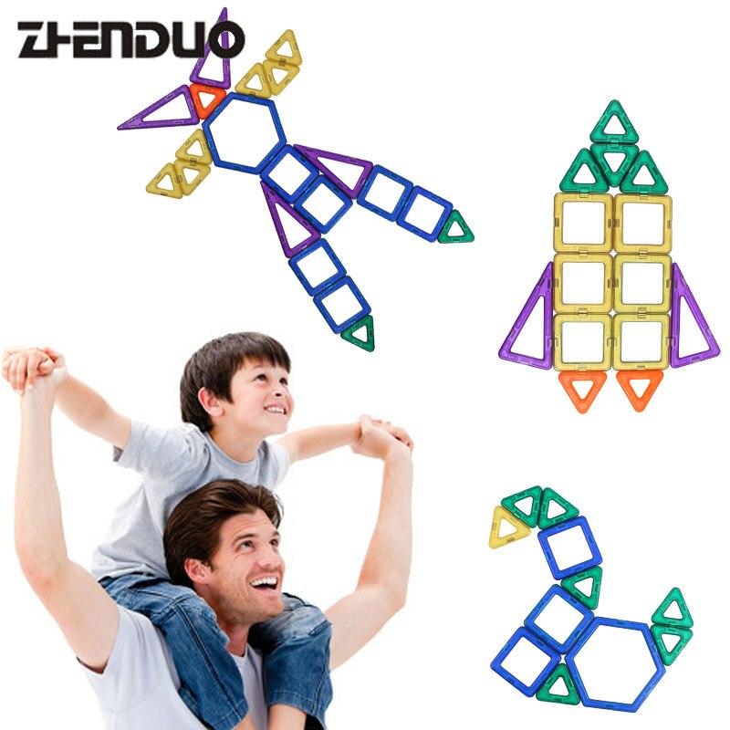 Zhenduo 118pcs Models Building Toy Magnetic Building Blocks Magnet Game Technic Bricks Children Learning & Educational Toys ball finding game ru bun lock children puzzle toy building blocks