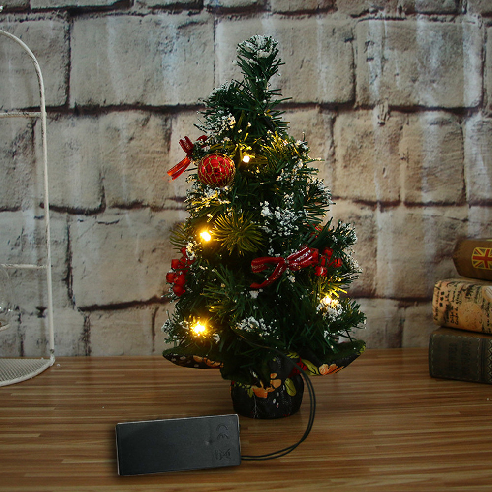 30cm Merry Christmas LED Glow Tree Bedroom Desk Decoration Gift Office Home Nov21 ...