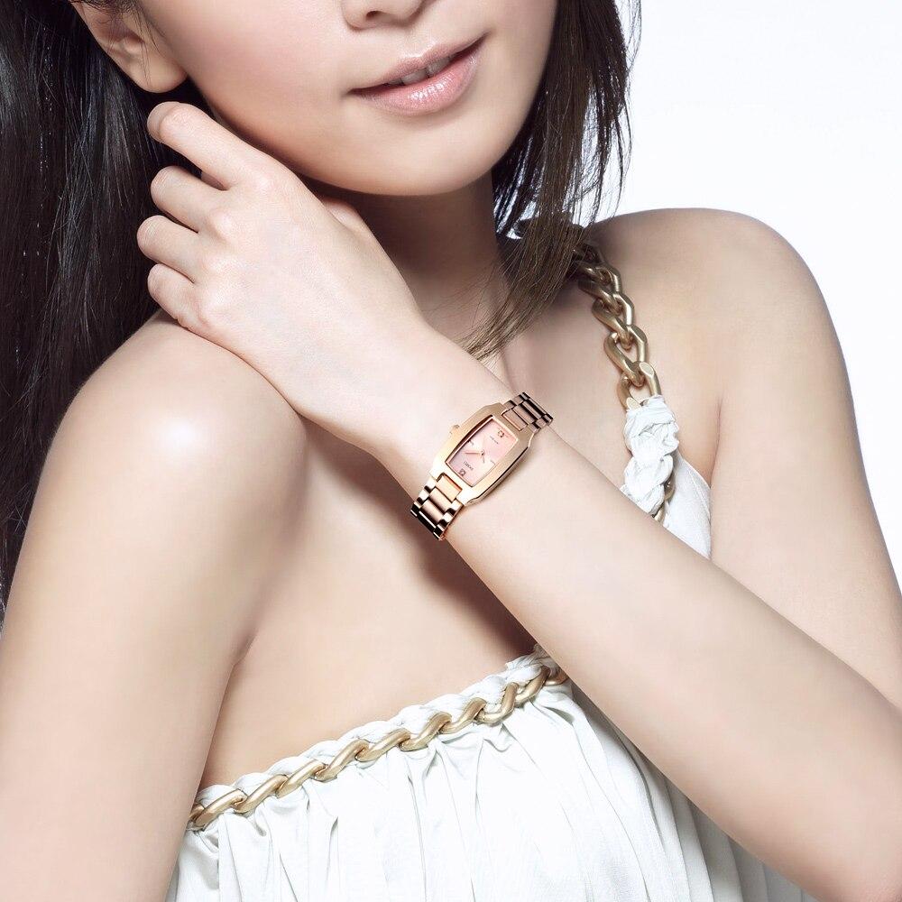 Image 5 - SKMEI Quartz Ladies Watches Fashion Luxury Stainless Steel Women Bracelet Watch Women Watches Waterproof Brand Relogio FemininoWomens Watches   -