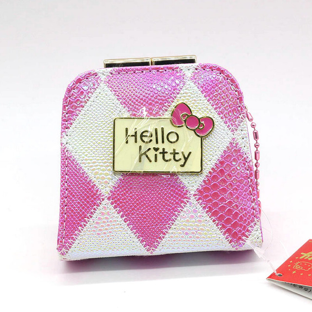 Hello Kitty children coin purse Fashion Cartoon Cute cat change purse pink hasp women wallet A gift for a child