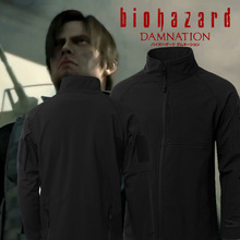Biohazard Biochemical stand collar Resident Evil 4 Lyon Curse deteriorate Cosplay Costume jacket hoodie