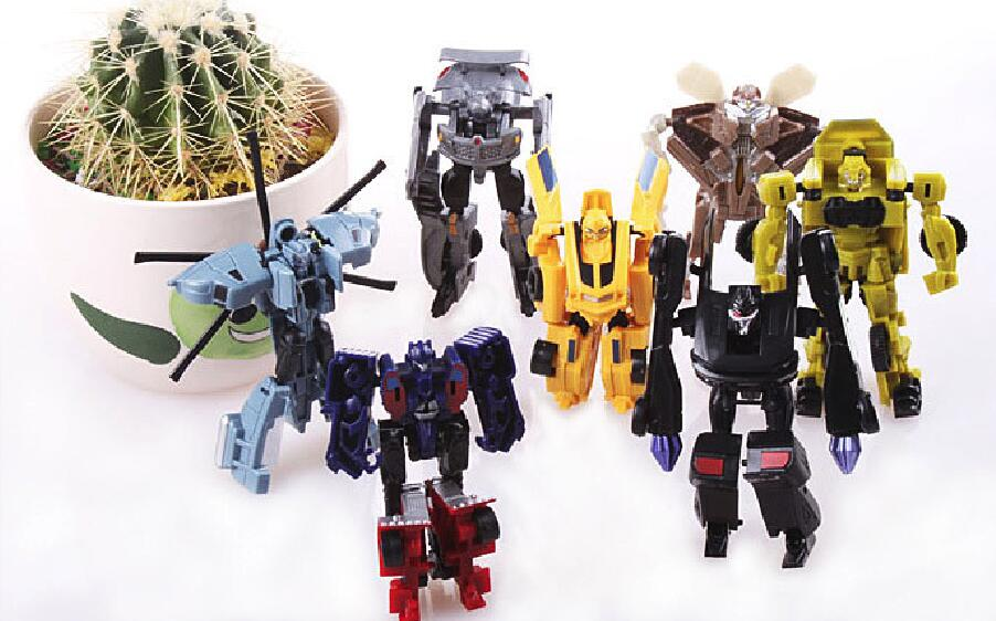 Caja al por menor 7 unids / set Transformation Kids Classic Robot - Figuritas de juguete - foto 2