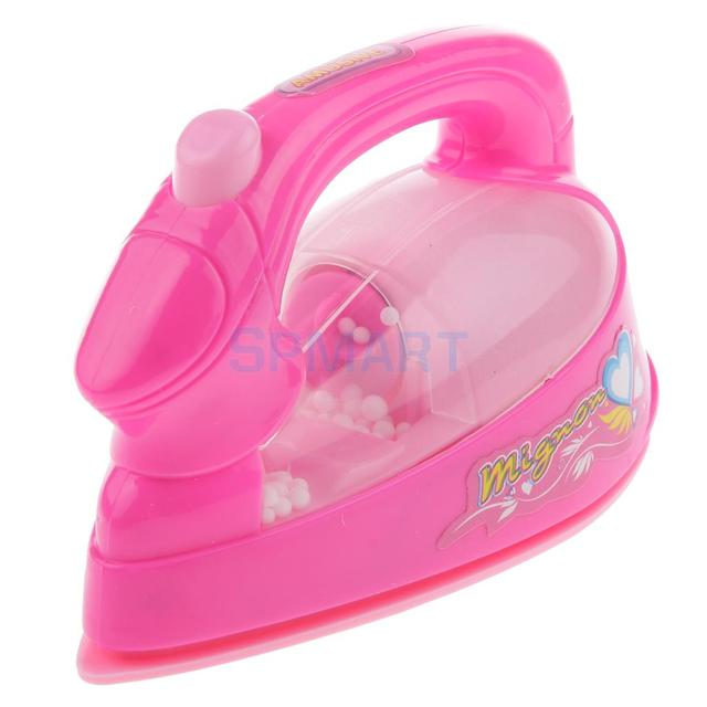 Laundry Clothing Ironing Pretend Play Toy Kids Electric Light Sound Iron 1