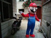 Высокое качество для взрослых плюшевые Марио костюм талисмана для праздничных и праздничные атрибуты Disfraces нарядное платье аниме косплей