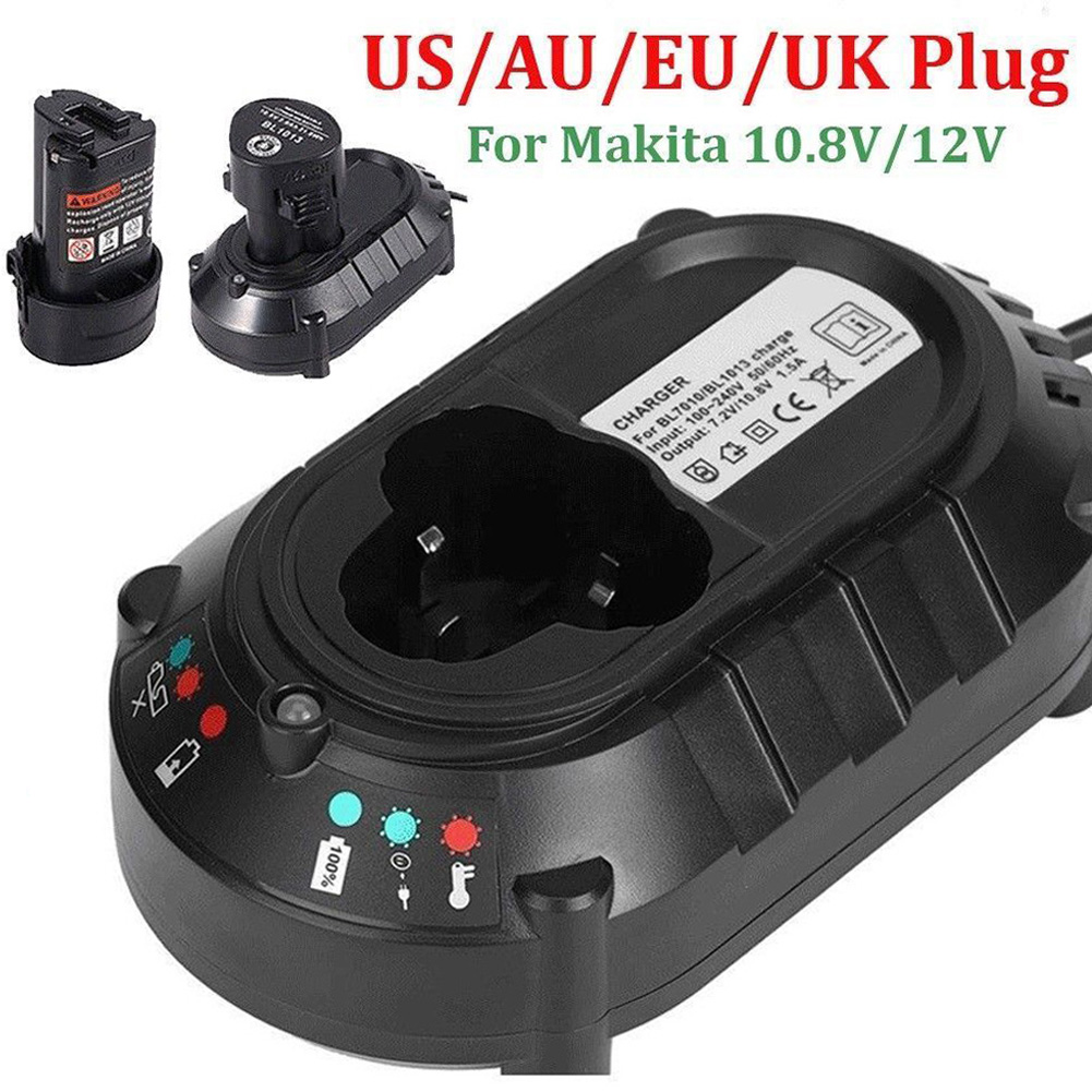 DC10WB Li-ion Power Tool DC10WA 10.8V/<font><b>12V</b></font> Electric Drill <font><b>Battery</b></font> <font><b>Charger</b></font> Replacement Screwdriver For <font><b>Makita</b></font> BL1013 BL1014 #0112 image
