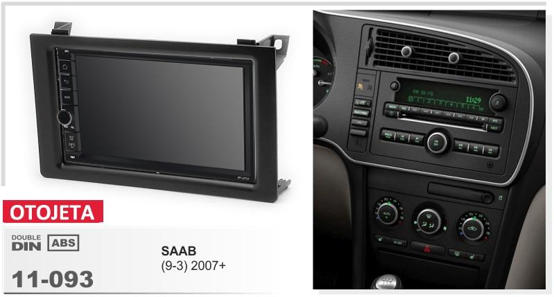 Convient pour SAAB 9-3 93 2007 2008 OTOJETA quad core android 8.1 cadre plus autoradio stéréo unités de tête multimédia magnétophone gps