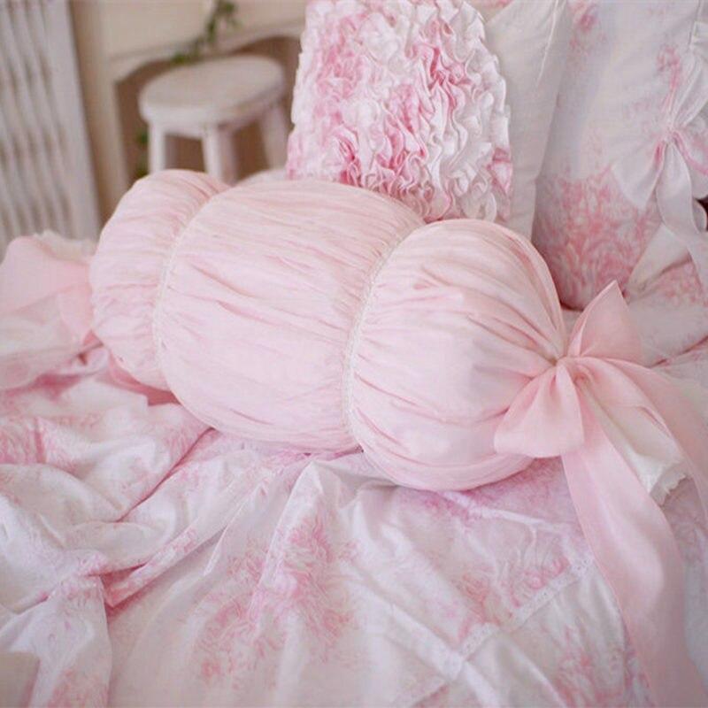 Ned design princesse literie oreiller doux siège de voiture chaise coussin bedrrom décoratif bonbons coussins dentelle arc romantique oreillers