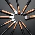 12 unids/lote Pro Pinceles de Maquillaje Polvos Base maquillaje Herramientas de Brocha de Sombra de Ojos Cepillo de Sombra de Ojos Delineador de Labios Conjunto Rotulador Cepillos