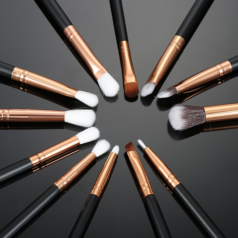 12pcs Pro Makeup Brushes Set Foundation Powder Eyeshadow Eyeliner Lip Brush Tools Highlighter Makeup Brushes Pincel Maquiagem