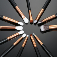 LEARNEVER 12pcs Pro Makeup Brushes Set Foundation Powder Eyeshadow Eyeliner Lip Brush Tools Eyeshadow Set Highlighter Brushes