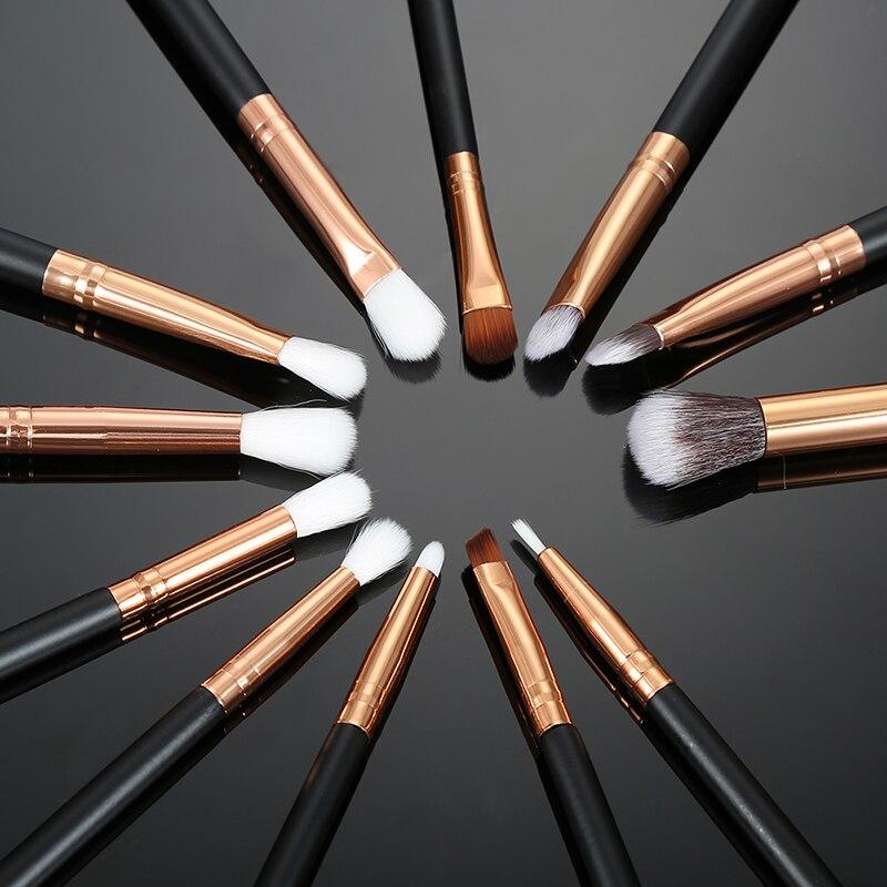 Learnever 12 шт. Pro Maquillage Cepillos комплект Fond De Teint Poudre тени для век Eye-liner губ Cepillos Outils тени для век набор читая Cepillos
