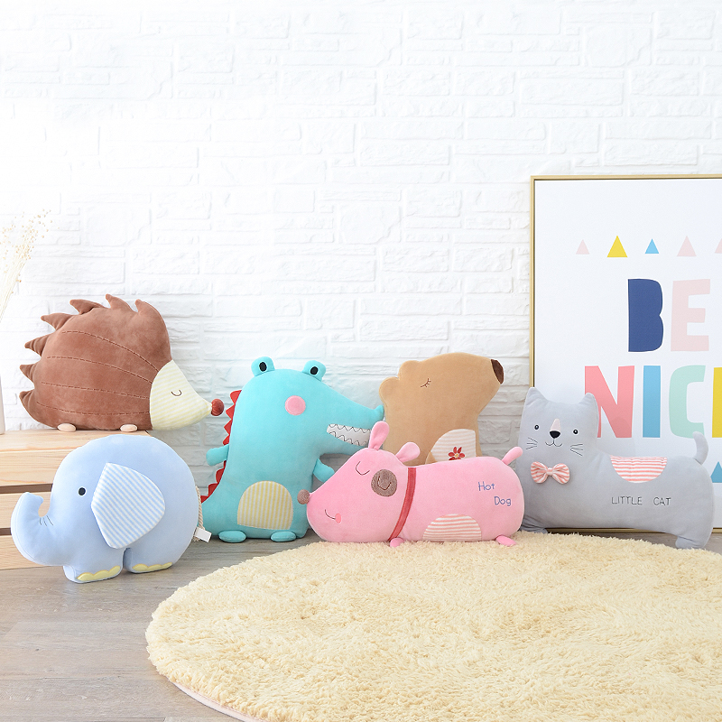 Metoo Plush Elephant Bunny Pillow Dolls Soft Stuffed Cartoon Pillow Animal Toys Cushion New Design Gifts for Kids Girls led star luminous kids pillow 35cm stuffed soft plush glow cushion colorful flashing pillow lovely toys for girls