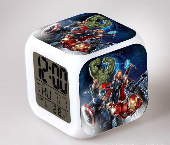marvel-font-b-avengers-b-font-infinity-war-figures-alarm-clock-iron-man-captain-america-thanos-hulk-spiderman-figure-digital-lighting-toys