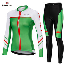 3d silicone merida 2014 3 long sleeve cycling jersey pants bicycle sports cycling autumn wear clothes set ropa ciclismo Women Cycling Jersey Set Long Sleeve Spring Summer Cycling Wear Female Cycling Clothings Bicycle Sports Wear Ropa Ciclismo Set