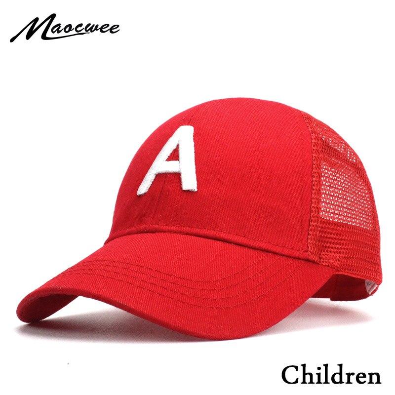 Letter Embroidery A Children Baseball Caps Kids Cartoon Hip Hop Hat Cap Snapback Girl Summer Cap Baseball Hat Baby Boy Kid Bone