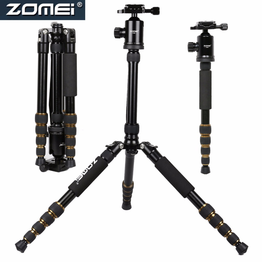 FREE DHL ZOMEI Z699 Professional Travel Tripod Monopod Flexible Aluminum Ball Head for Digital Camera High Quality New Arrival new sys700 aluminum professional tripod