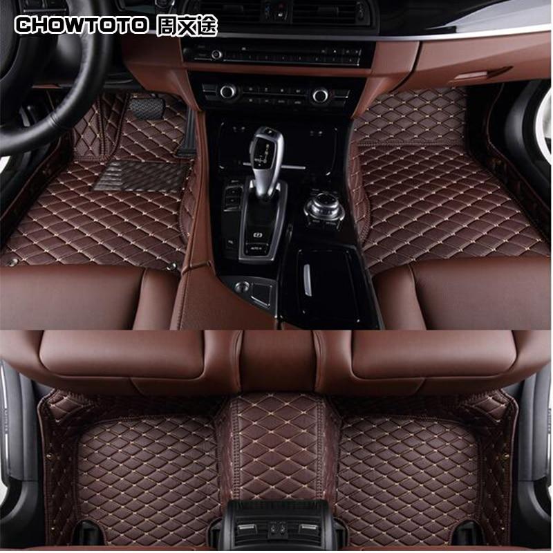 CHOWTOTO AA Custom Special Floor Mats For Infiniti QX60 JX35 QX80 7seats Waterproof Carpet For QX60 JX35 QX80 7seats Foot Mat