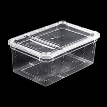 Petforu 5Pcs Plastic Frosted Reptile Feeding Box Lizard Spider Feeding Hatching Container - S(China)
