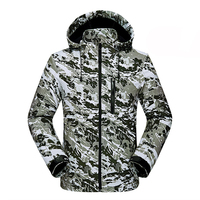2017 Breathable Waterproof Hooded Camouflage Softshell Jackets Men Trekking Ski Hiking Outdoor Sport Coat Fleece Jacket