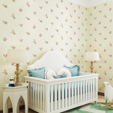 Korean style flower garden wall paper bedroom warm non-woven kids baby wallpaper wedding room simple living room TV back wall 3D non woven wallpaper modern european korean garden wallpapers small flower bedroom living room simple wedding room wall wallpaper