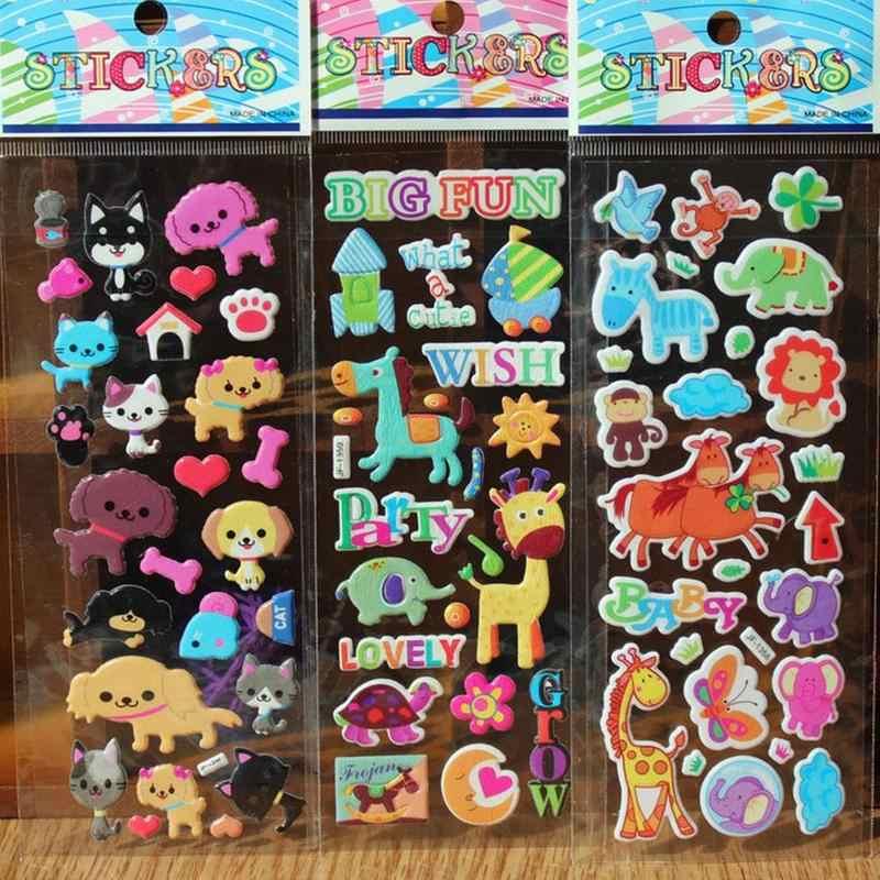 DIY Cute Lovely 3D Cartoon Animal Stickers Kawaii Cartoon Soft Animal Sticker Toys for kids Creative Gift School Supplies