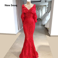 ed13abab80 2019 New Arabic Dubai Evening Dresses With Cape Appliqued Lace Sexy V Neck  Mermaid Prom Dress