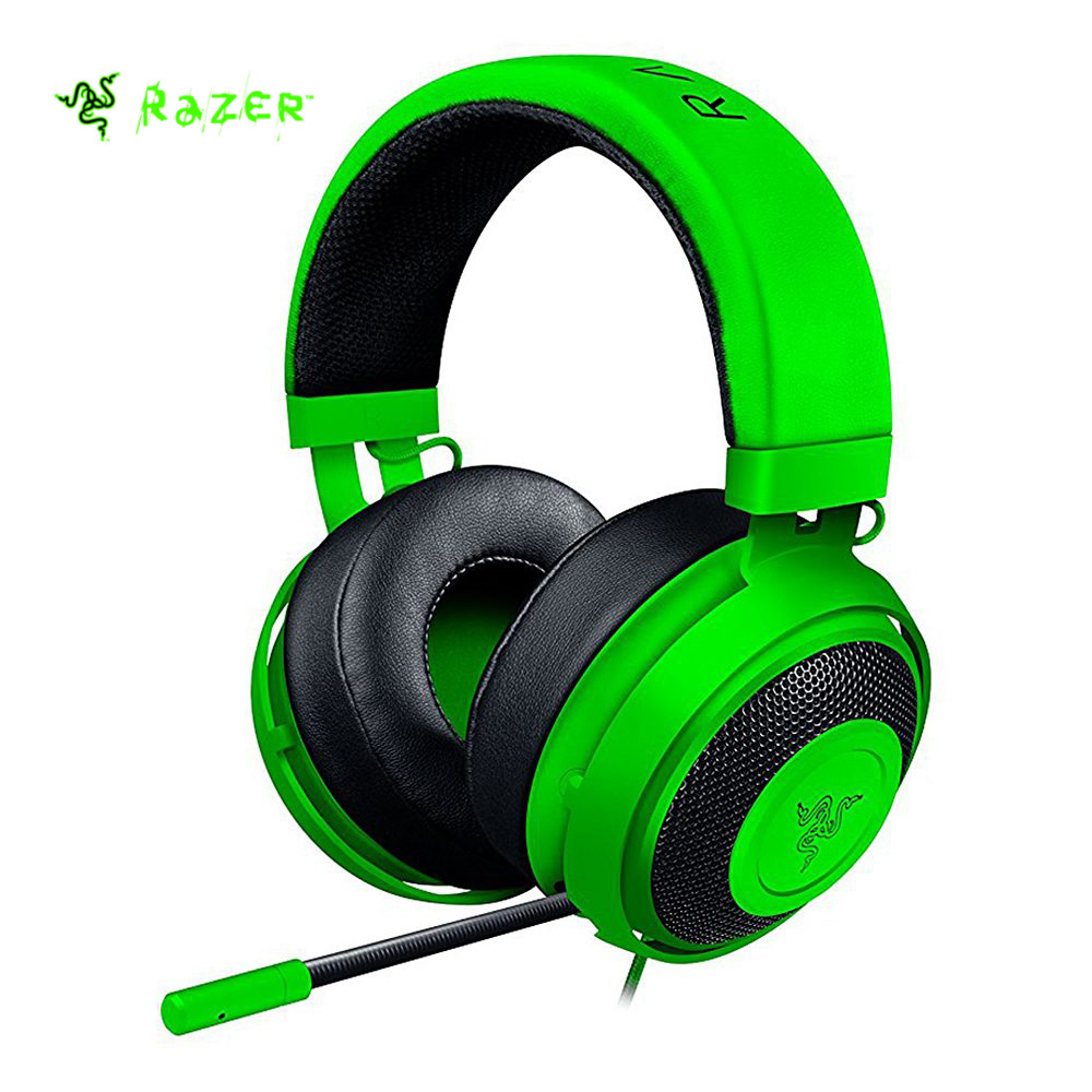 Razer Kraken Pro V2 Headset Analog Gaming Headset Fully retractable with Mic Oval Ear Cushions for PC Xbox One and Playstation 4