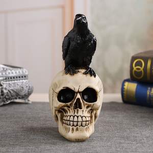 Image 2 - MRZOOT Resin Craft Statues For Decoration Skull Crow Skull Fashion Home Decor Creative Statue Personalized Ornaments