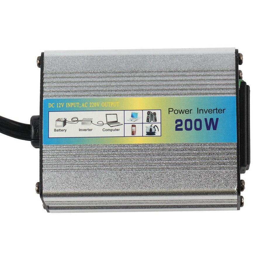 Più nuovo 200 W DC 12 V a AC 220 V Car Power Inverter Converter adattatore per Auto Camion Barca Car Charger Spina DEGLI STATI UNITI Trasporto Caldo di Goccia