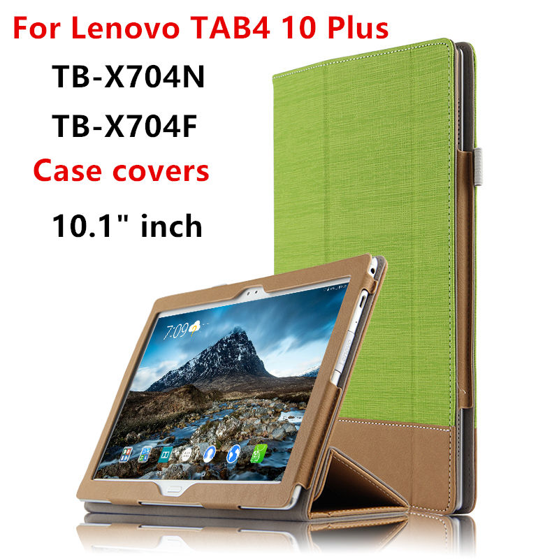 Case Cover For Lenovo Tab 4 10 plus Protective cover PU Leather Tab4 10 Plus TB-X704L TB-X704F TB-X704N 10.1 Tablet PC Cases