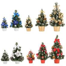 4d9e8ed591d Mini árboles de Navidad decoraciones de Navidad un pequeño árbol de pino  colocado en el escritorio del hogar Festival Fiesta ado.