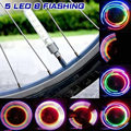 1pcs Bike Lights with Battery Mountain Road Bike Bicycle Light Lights 5 LEDS Tyre Tire Valve Caps Wheel Spokes LED Light