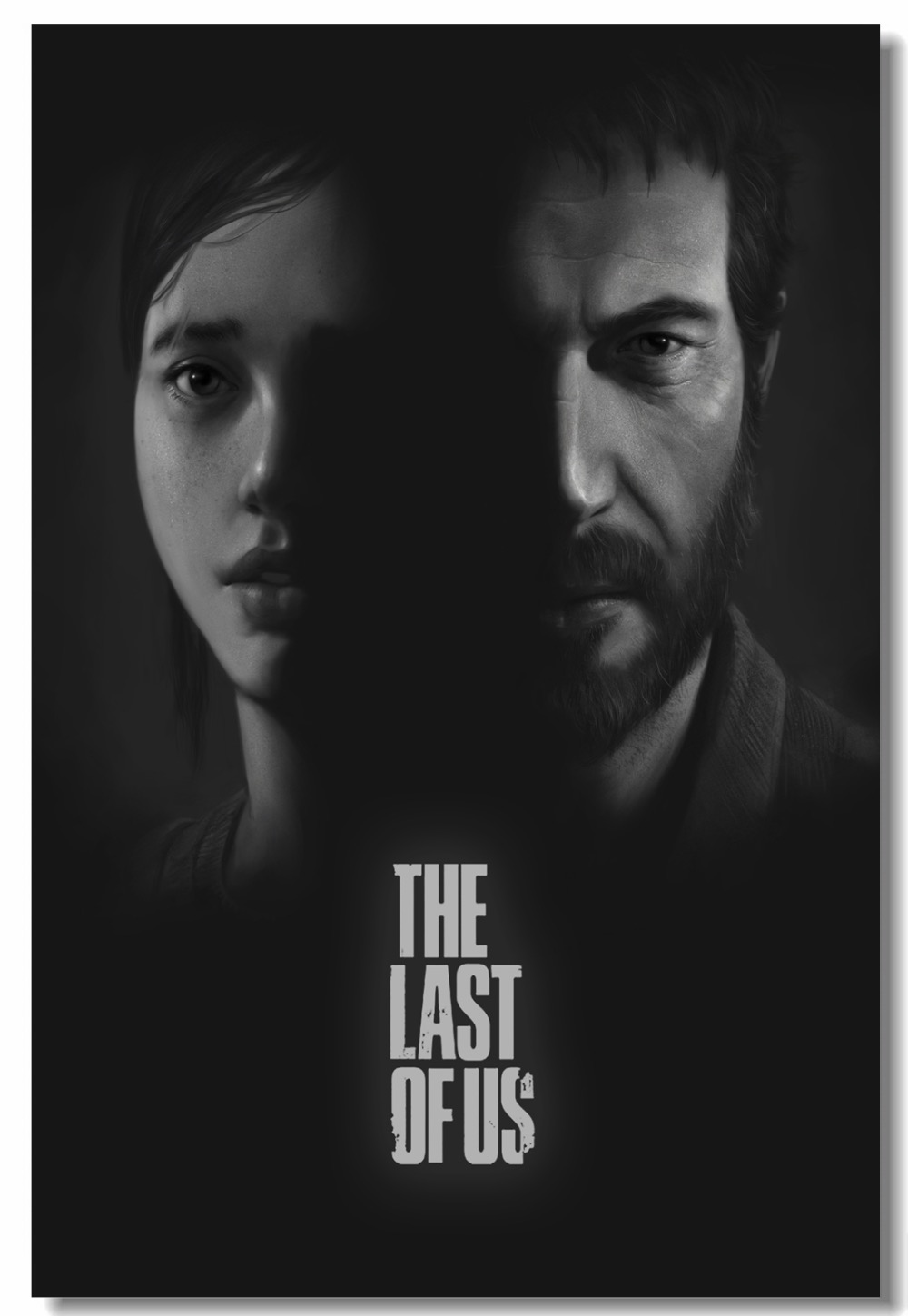 Custom Canvas Wall Decor The Last Of Us Video Game Poster Joel