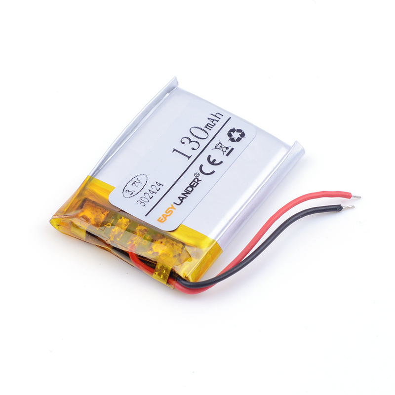 3.7V lithium battery 302424 032424 032525 <font><b>302525</b></font> 032323 130MAH battery FOR Bluetooth MP3 mp3 video pen camera DVR GPS image