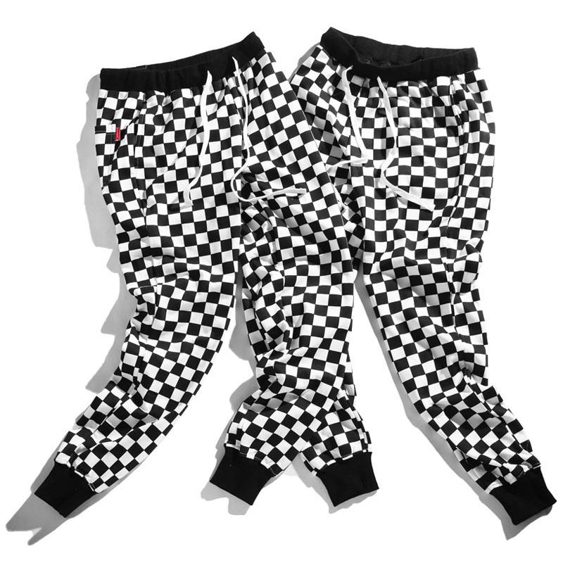 Aolamegs Pants Men Plaid Checkerboard Pants Fleece Thick Trousers Pants Mens Tactical Elastic Waist Fashion Joggers Sweatpants (11)