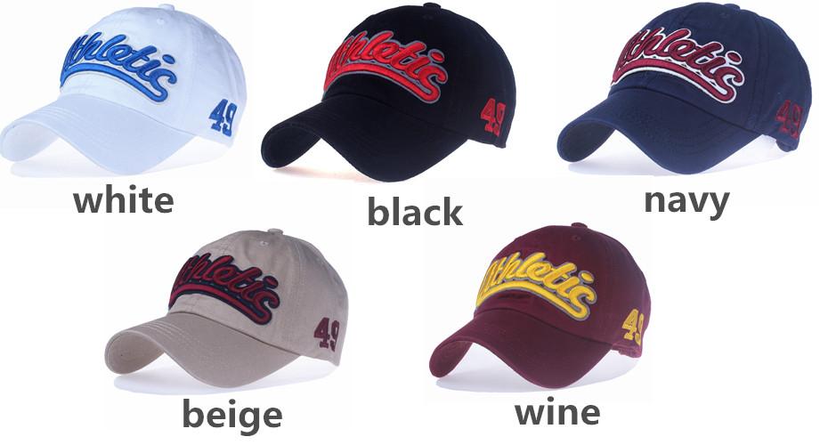 """Embroidered """"Athletic"""" Dad Hat - White Cap, Black Cap, Navy Cap, Beige Cap and Wine Cap Color Options"""