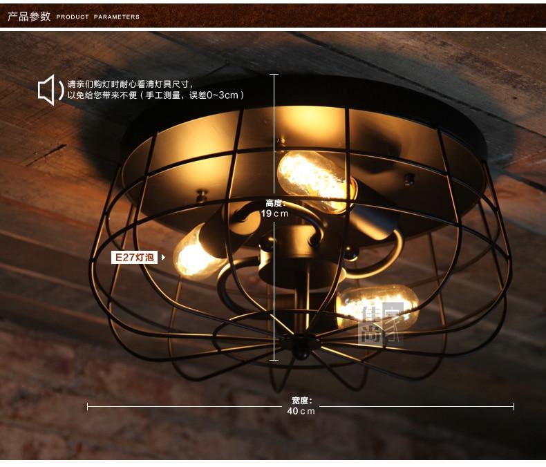 Nostalgic American Fan Edison Bulb Balcony Vintage Ceiling Light Study / Restaurant Light Loft Style Bar Lights Free Shipping
