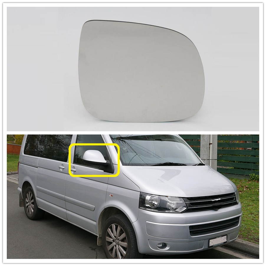 VW Transporter T5 Van 2010-2015 Non-Heated Aspherical Mirror Glass Drivers Side