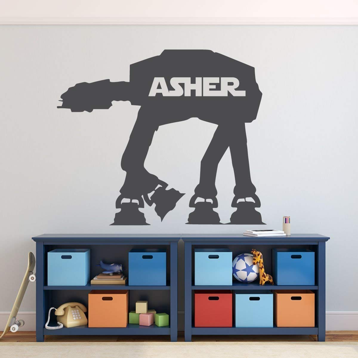 Cute asher Wall Sticker Pvc Stickers Art Paper For Kids Rooms Home Decor Decal Creative